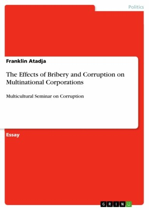 The Effects of Bribery and Corruption on Multinational Corporations