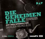Die geheimen Fälle - Auf den Spuren von Sherlock Holmes & Co, 4 Audio-CDs Cover