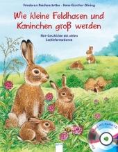 Kleine Feldhasen und Kaninchen werden groß, m. Audio-CD Cover