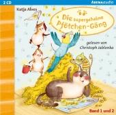 Die supergeheime Pfötchen-Gäng - Der Zwei-Millionen-Körner Schatz / Die geheimnisvolle Glückskatze, 2 Audio-CDs Cover