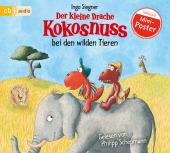 Der kleine Drache Kokosnuss und die wilden Tiere, 1 Audio-CD Cover