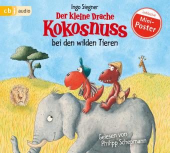 Der kleine Drache Kokosnuss bei den wilden Tieren, 1 Audio-CD