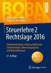 Steuerlehre 2 Rechtslage 2016 Cover