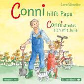Conni hilft Papa / streitet sich mit Julia, 1 Audio-CD Cover