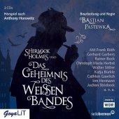 Sherlock Holmes und das Geheimnis des weißen Bandes, 3 Audio-CDs Cover