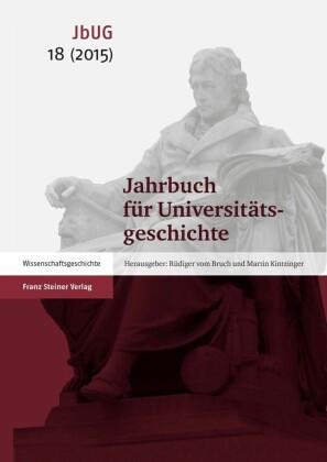 Jahrbuch für Universitätsgeschichte 18 (2015)