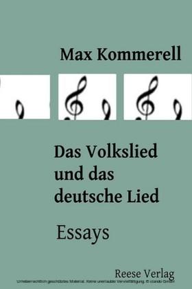 Das Volkslied und das deutsche Lied