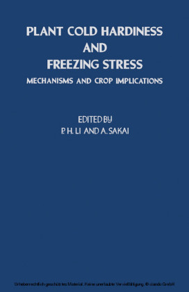 Plant Cold Hardiness and Freezing Stress