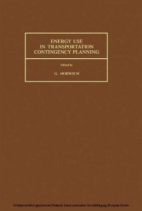 Energy Use in Transportation Contingency Planning
