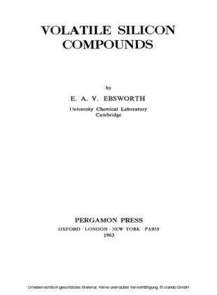 Volatile Silicon Compounds