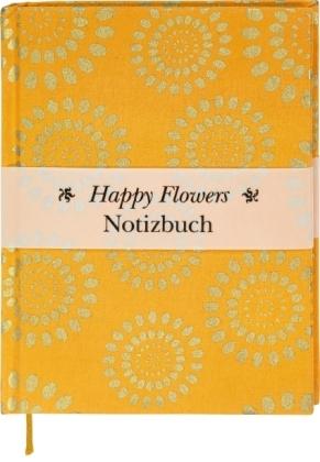 Happy Flowers Notizbuch groß - orange (Blanko)