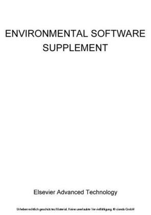Environmental Software Supplement