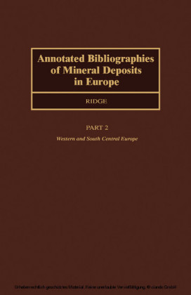 Annotated Bibliographies of Mineral Deposits in Europe