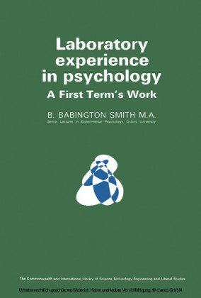Laboratory Experience in Psychology
