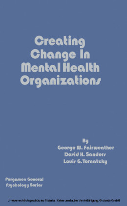 Creating Change in Mental Health Organizations