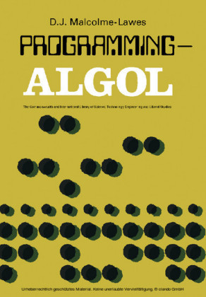 Programming - ALGOL