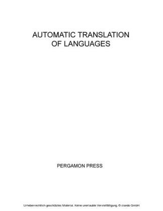 Automatic Translation of Languages