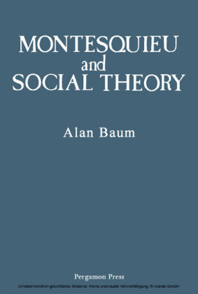 Montesquieu and Social Theory