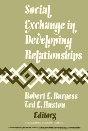 Social Exchange in Developing Relationships