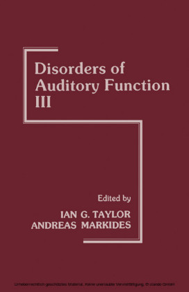 Disorders of Auditory Function