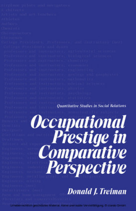 Occupational Prestige in Comparative Perspective