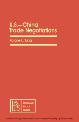 U.S.-China Trade Negotiations