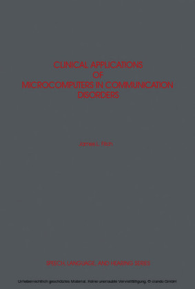 Clinical Applications of Microcomputers in Communication Disorders
