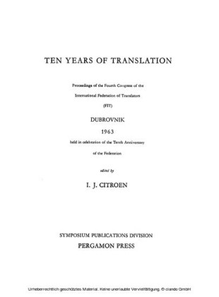 Ten Years of Translation