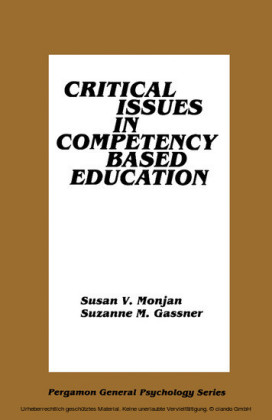 Critical Issues in Competency Based Education