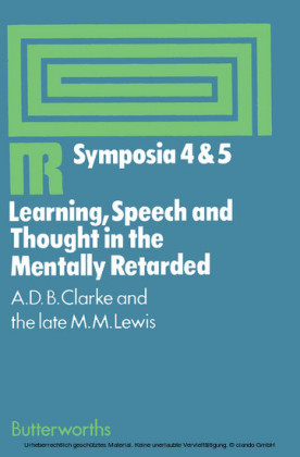 Learning, Speech and Thought in the Mentally Retarded