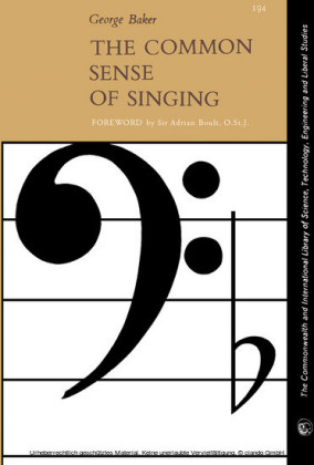 The Common Sense of Singing