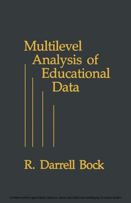 Multilevel Analysis of Educational Data