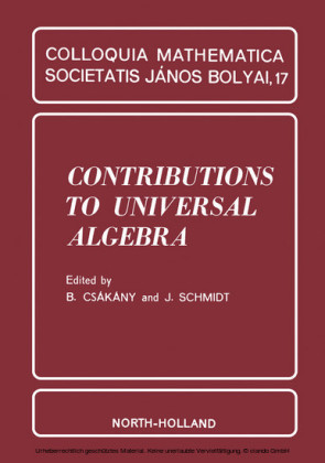 Contributions to Universal Algebra