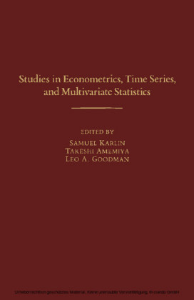 Studies in Econometrics, Time Series, and Multivariate Statistics