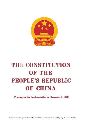 The Constitution of the People's Republic of China