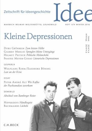 Zeitschrift für Ideengeschichte Heft X/4 Winter 2016