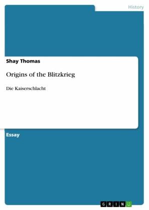 Origins of the Blitzkrieg