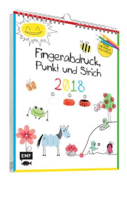 Fingerabdruck, Punkt und Strich: Mein Mitmachkalender 2018