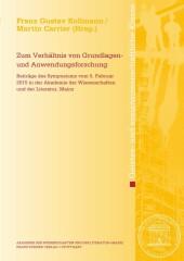 """Zum Verh""""ltnis von Grundlagen- und Anwendungsforschung"""