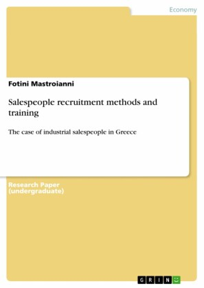 Salespeople recruitment methods and training