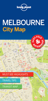 Lonely Planet City Map Melbourne