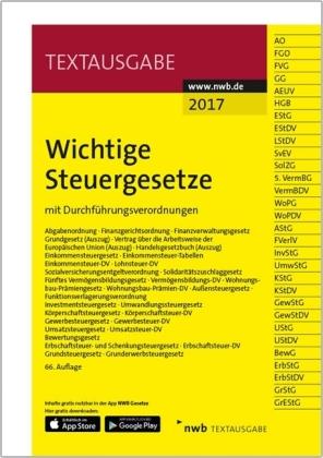 Wichtige Steuergesetze 2017