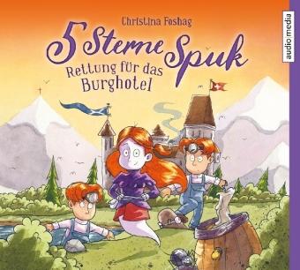 5 Sterne Spuk - Rettung für das Burghotel, 2 Audio-CDs