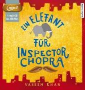 Ein Elefant für Inspector Chopra, 1 MP3-CD Cover