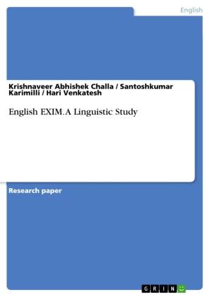 English EXIM. A Linguistic Study