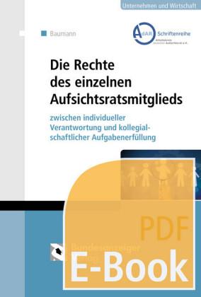 Die Rechte des einzelnen Aufsichtsratsmitglieds (E-Book)