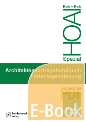 Architektenvertragshandbuch Freianlagenplanung (E-Book)