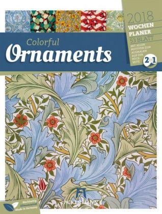 Colorful Ornaments 2018 - Wochenplaner