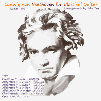 Beethoven Tablature for Classical Guitar