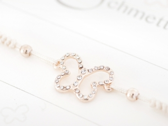 Armband mit Element & Kristallen - Flieg, kleiner Schmetterling